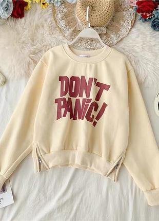 Свитшот don't panic 4 цвета