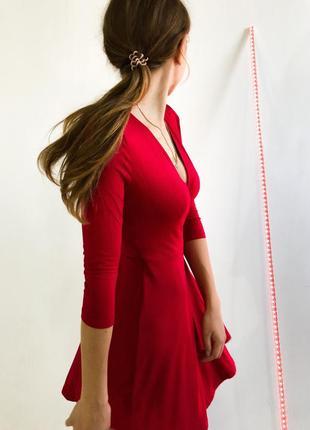 Новое осеннее платье бершка bershka красное на запах , безумно...