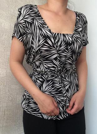 Вискозный принтованный топ/блузка 20 размер
