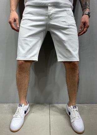 Шорты мужские джинсовые белые