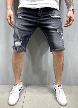 Шорты мужские джинсовые черные