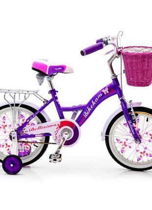 Детский велосипед с корзиной Bellisima 16 дюймов фиолетовый