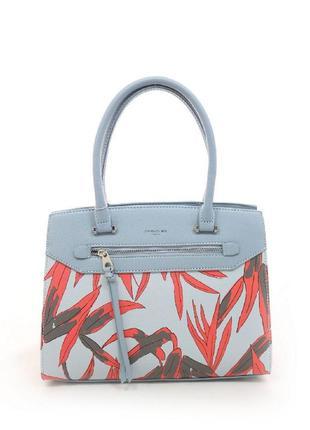 Стильная женская сумка голубая david jones