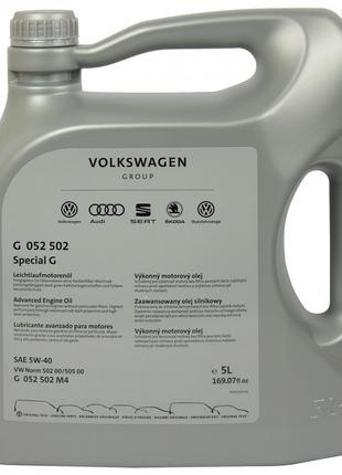 Моторное масло VOLKSWAGEN SPECIAL G 5W-40, 5 Л / G 052 502 M4