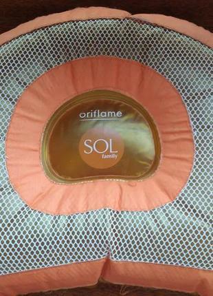 Подушка надувная для пляжа Oriflame SOL family;выс. 29см,шир.38см