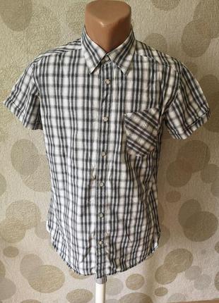 Мужская рубашка в клетку на кнопках.. огромный выбор рубашек