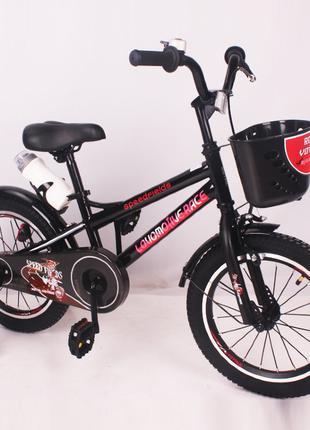 Детский двухколесный велосипед Speed Fields 16 дюймов черный