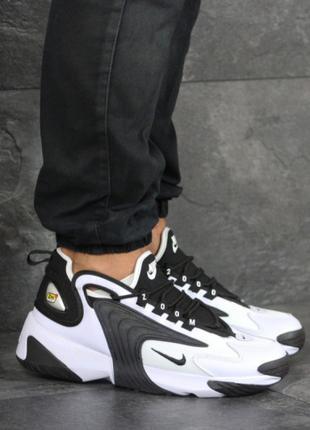 Мужские кроссовки черно-белые Nike Zoom