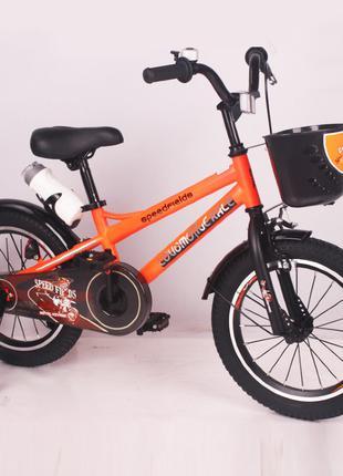 Детский двухколесный велосипед Speed Fields 16 дюймов оранжевый