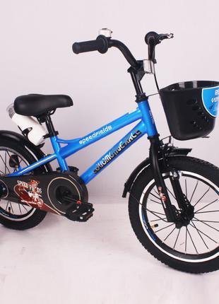 Детский двухколесный велосипед Speed Fields 16 дюймов синий