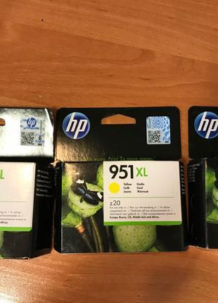 Новые Картриджи HP 950 XL, 951 XL