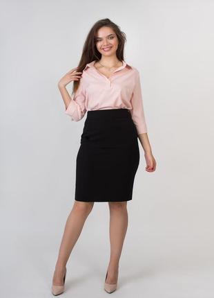 Однотонная юбка карандаш больших размеров