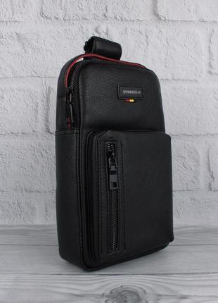 Мужская сумка слинг через плечо, рюкзак, борсетка bolo 1339 че...