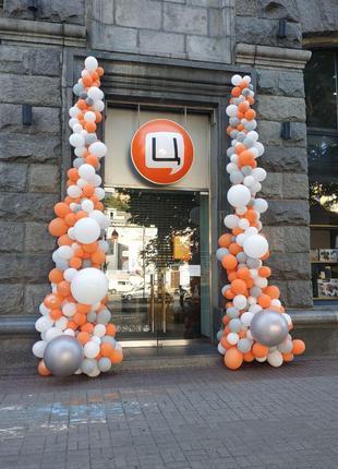 Оформление магазинов, офисов воздушными шарами в Киеве и области