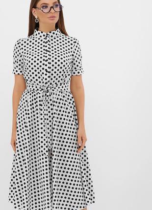 Красивое платье миди с поясом * отличное качество