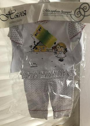 Новый костюм для девочки на 1год 12мес котон хлопок