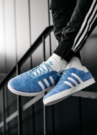 Adidas gazelle royal blue white, кроссовки/кеды адидас газель,...