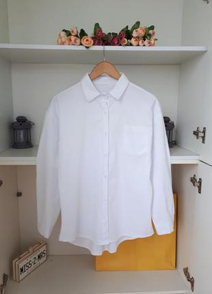Хлопковая рубашка длинный рукав