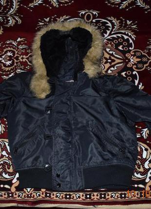 Куртка-бомбер зимняя alpha industries