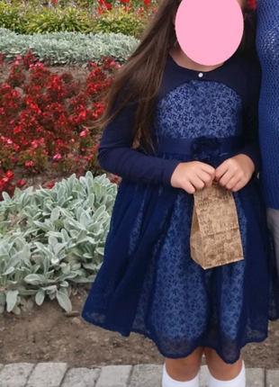 Нарядное платье с балеро на девочку р.128. Индия.