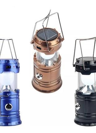 2В1 Фонарь Лампа для кемпинга с солнечной батареей и з POWER BANK