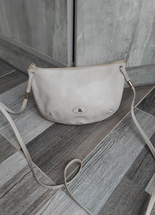 Кожаная сумочка кроссбоди lequipe