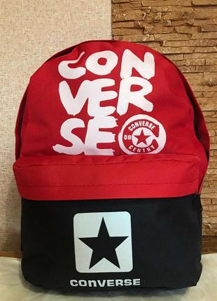 Рюкзак городской молодежный   красно-чёрный