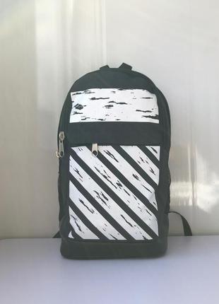 Рюкзак мужской офф городской молодежный. черный