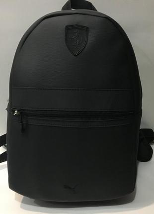 Рюкзак мужской  кожаный городской . черный