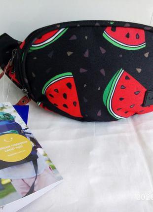 Бананка сумка на пояс , поясная сумочка bagland  .  сублимация...
