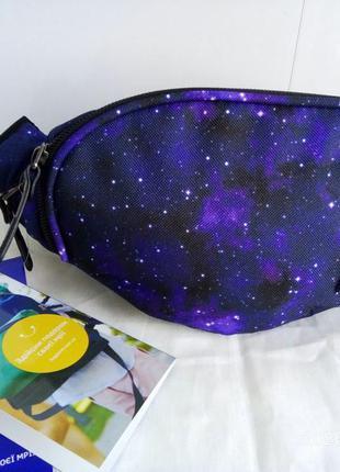 Бананка сумка на пояс , поясная сумочка bagland просто космос.