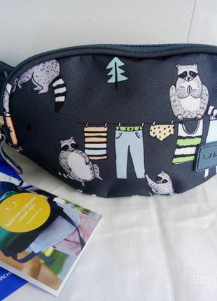 Бананка сумка на пояс , поясная сумочка bagland еноты
