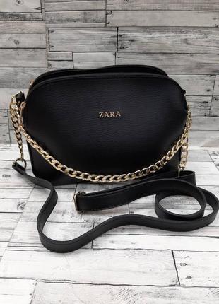 Женская сумочка клатч с цепочкой zara  кож.зам на плечо сумка.