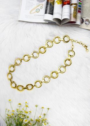 Золотистый пояс ремень кольца стиль 90 х
