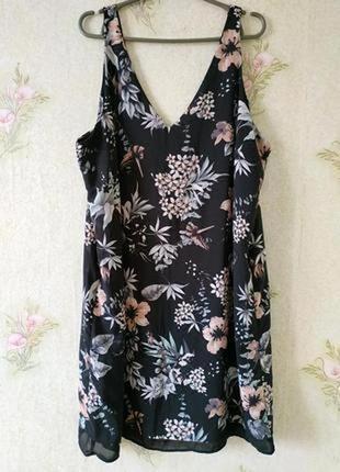 Женское платье большого размера # платье в цветочный принт # g...