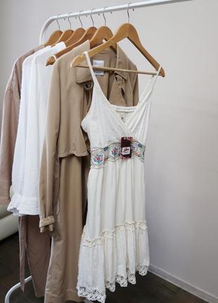 Бавовняне плаття сарафан / 100% хлопковое платье с вышивкой