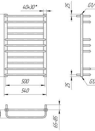 Водяной полотенцесушитель Премиум Люкс 800x540/500, цена 7025 грн