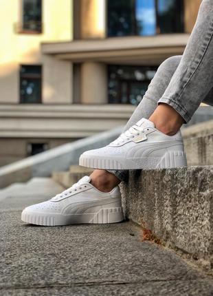 Белые женские кроссовки puma cali
