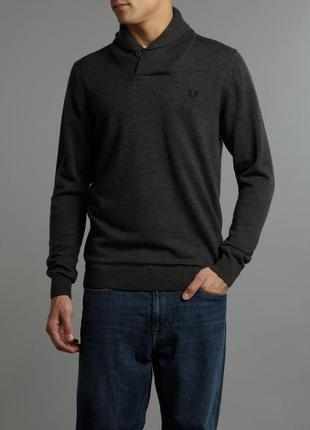Fred perry шерстяной свитер merino wool