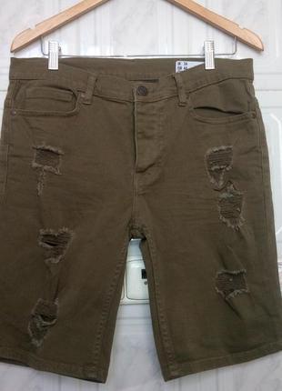 Крутые джинсовые шорты стрейчевые denim co