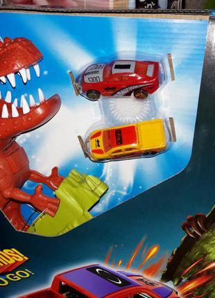 Трек Динозавр поймай тачку как Hot Wheels 8899-93