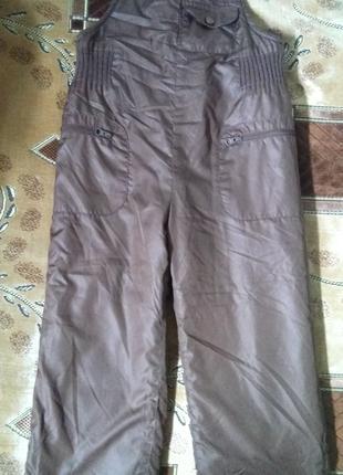 Полукомбинезон, штаны осень/зима на мальчика 5 лет