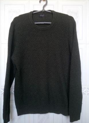 Стильный свитер zara  в твидовую расцветку