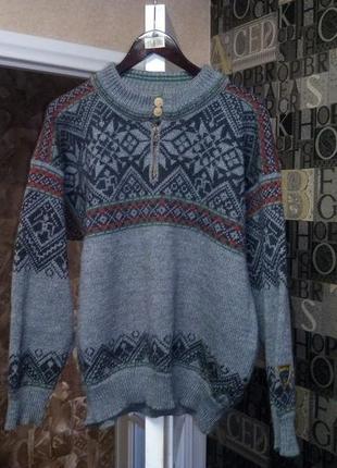 Винтажный норвежский трекинговый свитер dale of norway