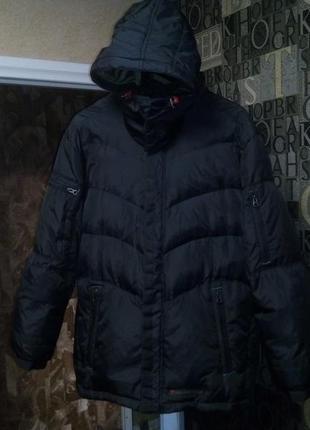 Milestone куртка мужская пуховик теплая немецкое качество