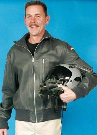 Винтажная кожаная куртка пилот бундес luftwaffe flight leather...