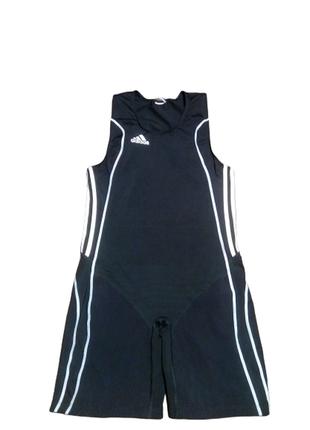 Adidas компрессионный костюм комбинезон  тяжелоатлетический па...
