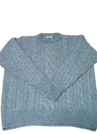 Английский свитер интересной вязки  woolovers|модель fisherman...