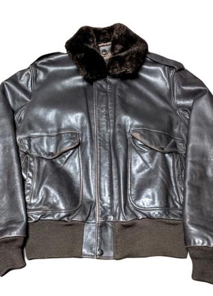 Schott кожаная милитари куртка бомбер пилот a-2|184sm|