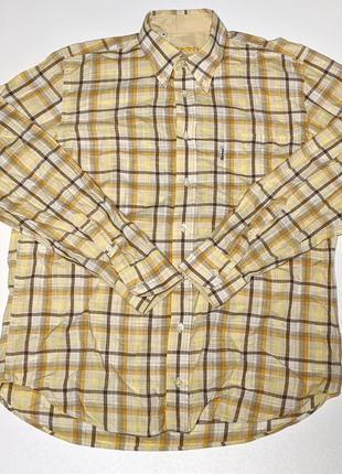 Barbour рубашка летняя из льна лен трекинговая туристическая